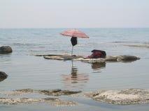 De beste plaats voor de strandvakantie Stock Foto