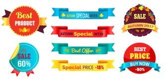 De beste Prijs koopt nu Speciaal Autumn Offer Percent Stock Afbeelding