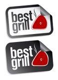De beste stickers van het grillvoedsel. Royalty-vrije Stock Fotografie