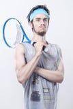 De beste tennisspeler Stock Afbeeldingen