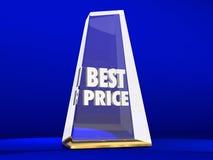 De beste Trofee van de de Verkooptoekenning van Prijs Laagste Kosten stock illustratie