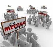 De beste Vergadering groepeert ooit Mensentekens Team Discussion Stock Foto