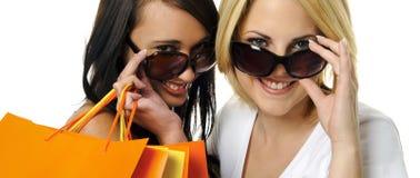 De beste vrienden gaan winkelend stock fotografie