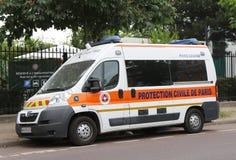 De bestelwagen van beschermingscivile DE Parijs in Parijs Royalty-vrije Stock Foto's