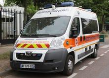 De bestelwagen van beschermingscivile DE Parijs in Parijs Stock Afbeelding