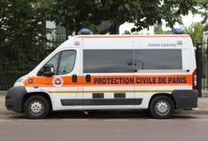 De bestelwagen van beschermingscivile DE Parijs in Parijs Stock Foto's
