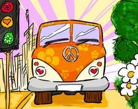 De bestelwagen van de hippie Royalty-vrije Stock Afbeelding