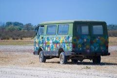 De Bestelwagen van de hippie Royalty-vrije Stock Afbeeldingen