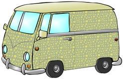 De Bestelwagen van de hippie Stock Afbeeldingen