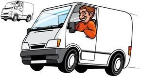 De bestelwagen van de levering Royalty-vrije Stock Afbeelding