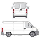 De Bestelwagen van de levering stock illustratie