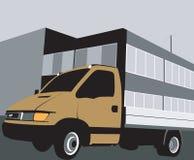 De bestelwagen van de levering vector illustratie