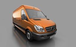 De bestelwagen van de leveringsdienst Stock Foto's