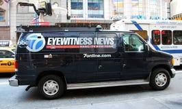 De Bestelwagen van het Nieuws van de ooggetuige Royalty-vrije Stock Afbeelding
