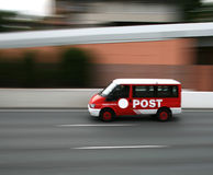 De bestelwagen van het postkantoor Stock Afbeelding