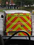 De bestelwagen van het wegonderhoud stock afbeelding