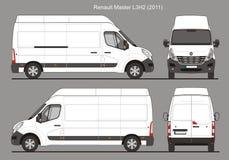 De Bestelwagen 2011 van de Renault_Masterl3h3 Lading Royalty-vrije Stock Foto's