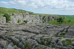 De Bestrating van het kalksteen Stock Afbeeldingen