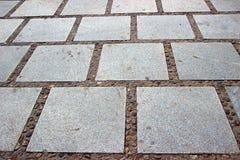 De Bestratingspatroon van de granietsteen Stock Foto's