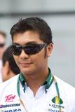 De bestuurder Fairuz Fauzy van de reserve bij Maleise F1 Stock Afbeelding