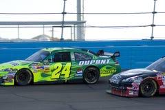 De bestuurder Jeff Gordon van de Kop van de Sprint NASCAR Stock Foto
