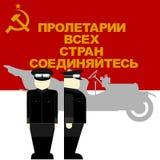 De bestuurder van de auto sinds de Oktoberrevolutie in Rusland Royalty-vrije Stock Foto's