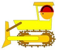 De bestuurder van de bulldozer Stock Foto
