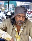 De Bestuurder van de cabine in Bangalore, India Stock Afbeelding