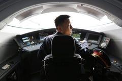 De bestuurder van de hoge snelheidstrein royalty-vrije stock fotografie