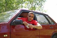 De bestuurder van de taxi Royalty-vrije Stock Afbeeldingen