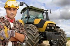 De bestuurder van de tractor Royalty-vrije Stock Foto's