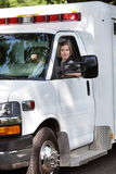 De Bestuurder van de Ziekenwagen van de vrouw Stock Foto's