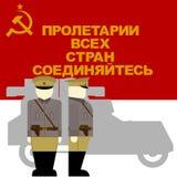 De bestuurder van een pantserwagen van de Oktoberrevolutie in Rusland Royalty-vrije Stock Foto