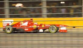 De bestuurder van Ferrari Fernando Alonso 4de Singapore F1 Royalty-vrije Stock Afbeelding