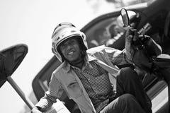 De Bestuurder van Tuktuk Stock Afbeeldingen