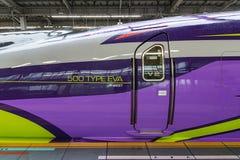 De bestuurdersdeur van 500 TYPE EVA hoog-SpeedShinkansen trein Stock Afbeeldingen