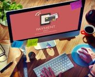 De betaling betaalt het Concept van de het Kredietklant van het Saldobankwezen Royalty-vrije Stock Foto's