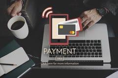 De betaling betaalt het Concept van de het Kredietklant van het Saldobankwezen Stock Foto