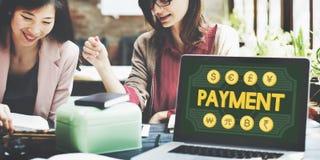De betaling betaalt het Concept van de het Kredietklant van het Saldobankwezen Royalty-vrije Stock Afbeelding