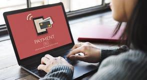 De betaling betaalt het Concept van de het Kredietklant van het Saldobankwezen Stock Foto's