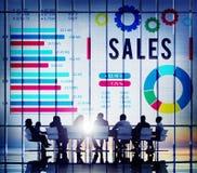 De Betaling van de verkoopeconomie Financieel het Verkopen Concept Stock Foto's