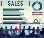 De Betaling van de verkoopeconomie Financieel het Verkopen Concept Royalty-vrije Stock Afbeeldingen