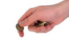 De Betaling van het contante geld Stock Foto