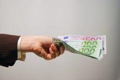 De betaling van het contante geld Stock Afbeeldingen