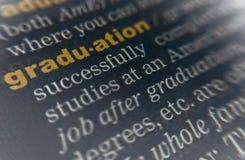 De betekenis van het graduatiewoordenboek stock afbeeldingen