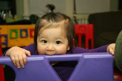 De beten van de baby Stock Fotografie