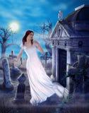 De betoverende Spookzorg van Liefde verloor Griezelige Begraafplaats vector illustratie