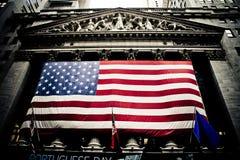De Beurs die van New York Manhattan, NY bouwt Stock Afbeeldingen