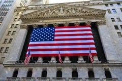 De beurs van New York buiten Royalty-vrije Stock Afbeelding
