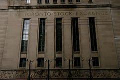 De Beurs van Toronto - Canada stock foto's